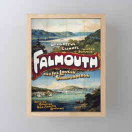 Railwayposter Falmouth Framed Mini Art Print