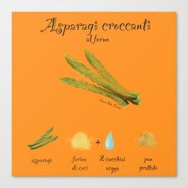 Ricetta Asparagi Canvas Print