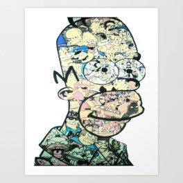 Homer Color Art Print