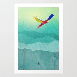 Macaw (Guacamaya) Art Print