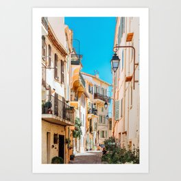 Cannes City Print, French Riviera Art, Travel Print, Architecture Print, Beautiful Urban Streets Of Cannes, Cote D'Azure, Downtown City Cannes, Wall Art Poster, Home Decor Print Art Print
