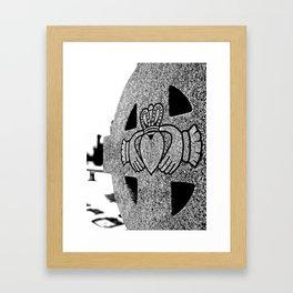 Winter Claddagh Framed Art Print