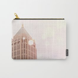 Building and Pink Bokeh Carry-All Pouch