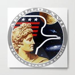 Apollo 17 Patch Metal Print