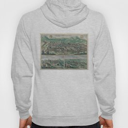 Vintage Map of Jerusalem, Nazareth and Rame Israel Hoody