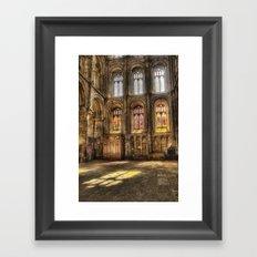 Sunlight Through the Windows Framed Art Print