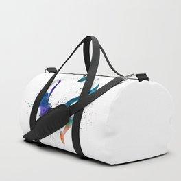 Woman soccer player 08 in watercolor Duffle Bag