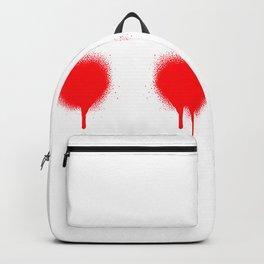 Graffiti blood eyes (Why so serious? Ha-ha!) Backpack