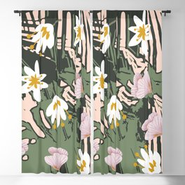 Botanical Blush Blackout Curtain