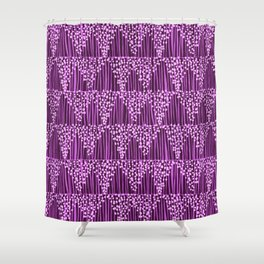 Dots + Stripes - Orchid Shower Curtain