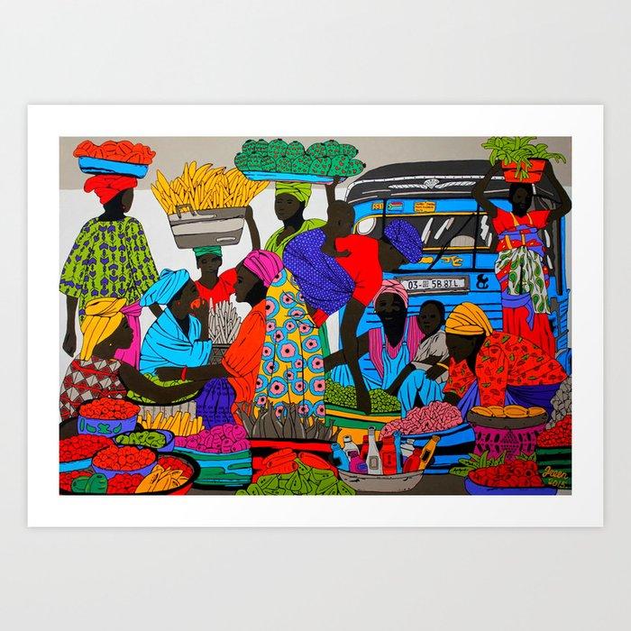 African marketplace 2 Kunstdrucke