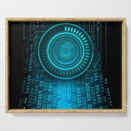 Futurist Matrix | Digital Art Serving Tray