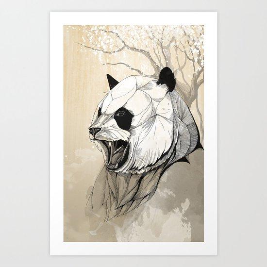 Angry Panda Art Print