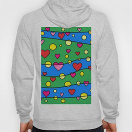 Floating Hearts and Circles Hoody