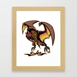 Rodan Kaiju Print FC Framed Art Print
