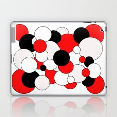Bubbles - red, black, gray and white. Laptop & iPad Skin