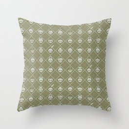 The Nik-Nak Bros. Durdy Gold Throw Pillow