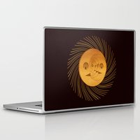 sun and moon Laptop & iPad Skins featuring sun-moon by Vila Propuh