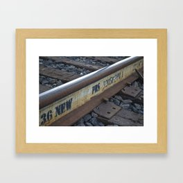 Tracks on Tracks Framed Art Print