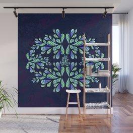 Blue drops. Wall Mural