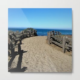 Footprints to the Beach Metal Print