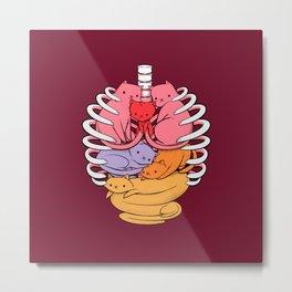Anatomicat Metal Print