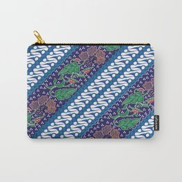 Indonesian combination batik with dominant blue color Carry-All Pouch