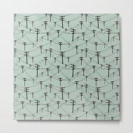 Telephone Lines repeating pattern Metal Print