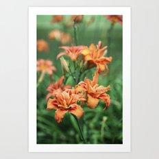 Deja Vu In Orange Art Print