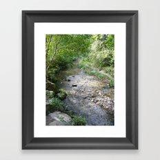 Across the river ! Framed Art Print