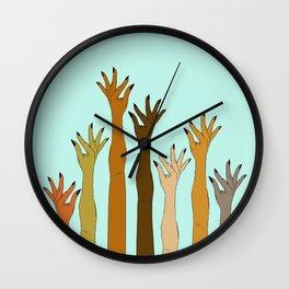 Hands Don't Judge - Size Don't Matter ... NOT! ;) Wall Clock