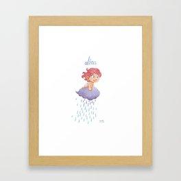 Léna (drawn by Karim Friha) Framed Art Print