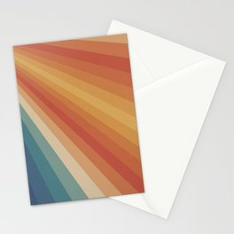 Retro 70s Sunrays Stationery Cards