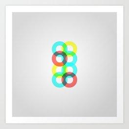 Modern Circles Art Print