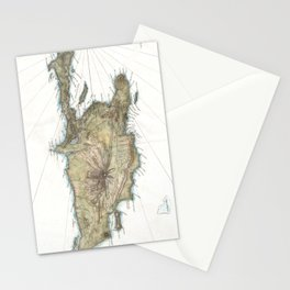 Vintage Map of St. Domingue (1802) Stationery Cards