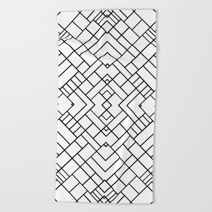 PS Grid 45 Beach Towel