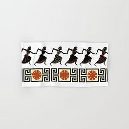 Line of Etruscan Dancers Hand & Bath Towel