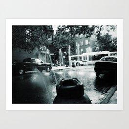 City Stream Art Print
