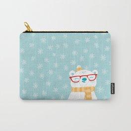 Hipster Polar Bear 1 Carry-All Pouch