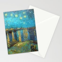 Starry Night Over the Rhone River by Vincent van Gogh Stationery Cards