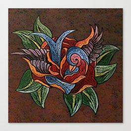 Sparrow Rose One Remix Canvas Print