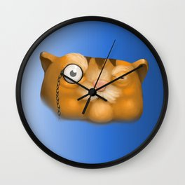 The Old Cat Wall Clock