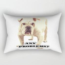 Angry bulldog. Any problems? Rectangular Pillow