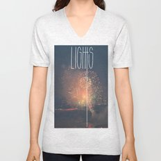 SKY LIGHTS Unisex V-Neck