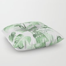 Delicate Monstera Green #society6 Floor Pillow