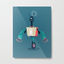 :::Mini Robot-Dynamo::: Metal Print
