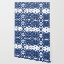 Shibori Tie Dye 4 Indigo Blue Wallpaper