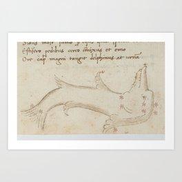 Basinio de Parma - Delphinus, the Dolphin (1540s) Art Print
