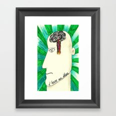 I have an idea Framed Art Print