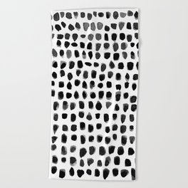 Watercolor Dots Beach Towel